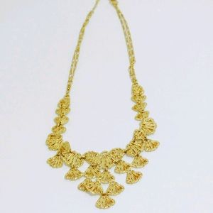 Stella & Dot Geneva Gold Lace bib necklace